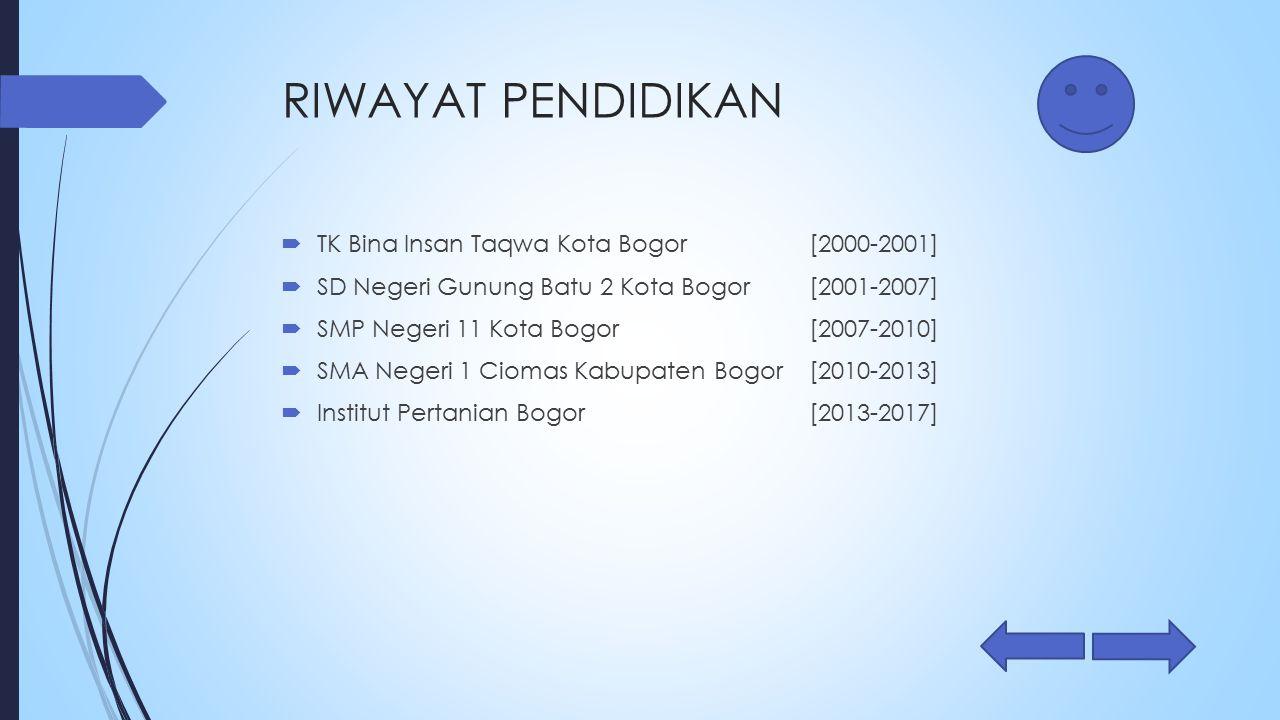 RIWAYAT PENDIDIKAN TK Bina Insan Taqwa Kota Bogor [2000-2001]